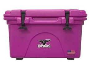 Orca pink 26 quart cooler